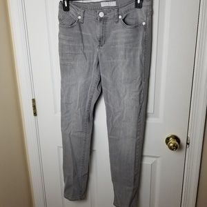 Rock & Republic size 12 gray denim skinny jeans